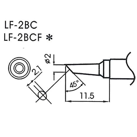 AOYUE WQ/LF-2BC Puntas soldadura sin plomo Ø2.0mm R2.