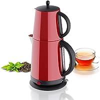 Roestvrij staal - theekoker waterkoker - rood - met theezeef automatische uitschakeling en warmhoudfunctie - 2,7 liter…