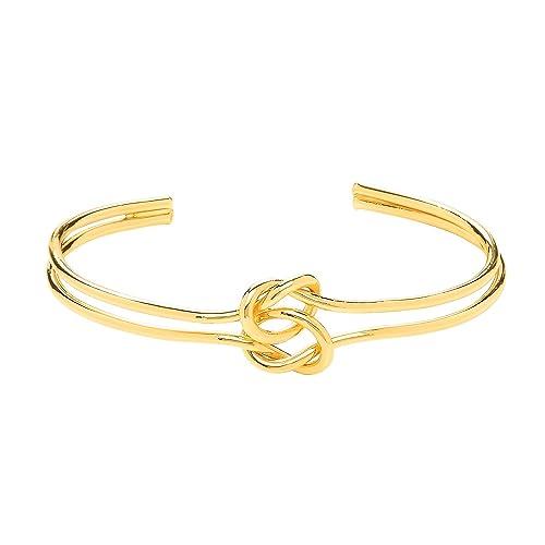 Front Row Damen-Armreif goldfarben doppelter Freundschaftsknoten