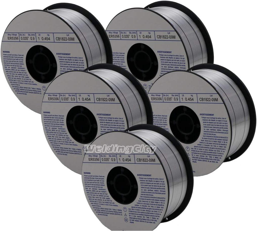 "MIG Welding Wire ER5356 Aluminum Mig 2 Rolls ER5356-.035/"" 1 Ib Each Roll"