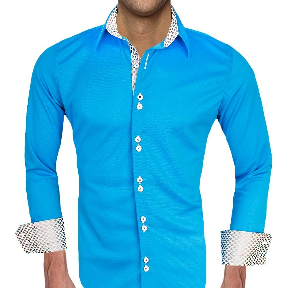 Baby Blue Moisture Wicking Dress Shirts - Made in the USA