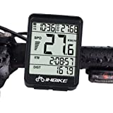高機能サイクルコンピュータ 自転車 スピードメーター 全12機能:防水/速度計/距離計/走行時間計等 (行なし)