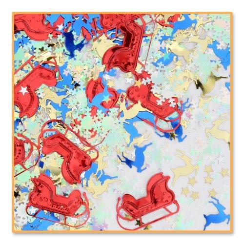 Beistle Christmas Night Confetti, Multicolored