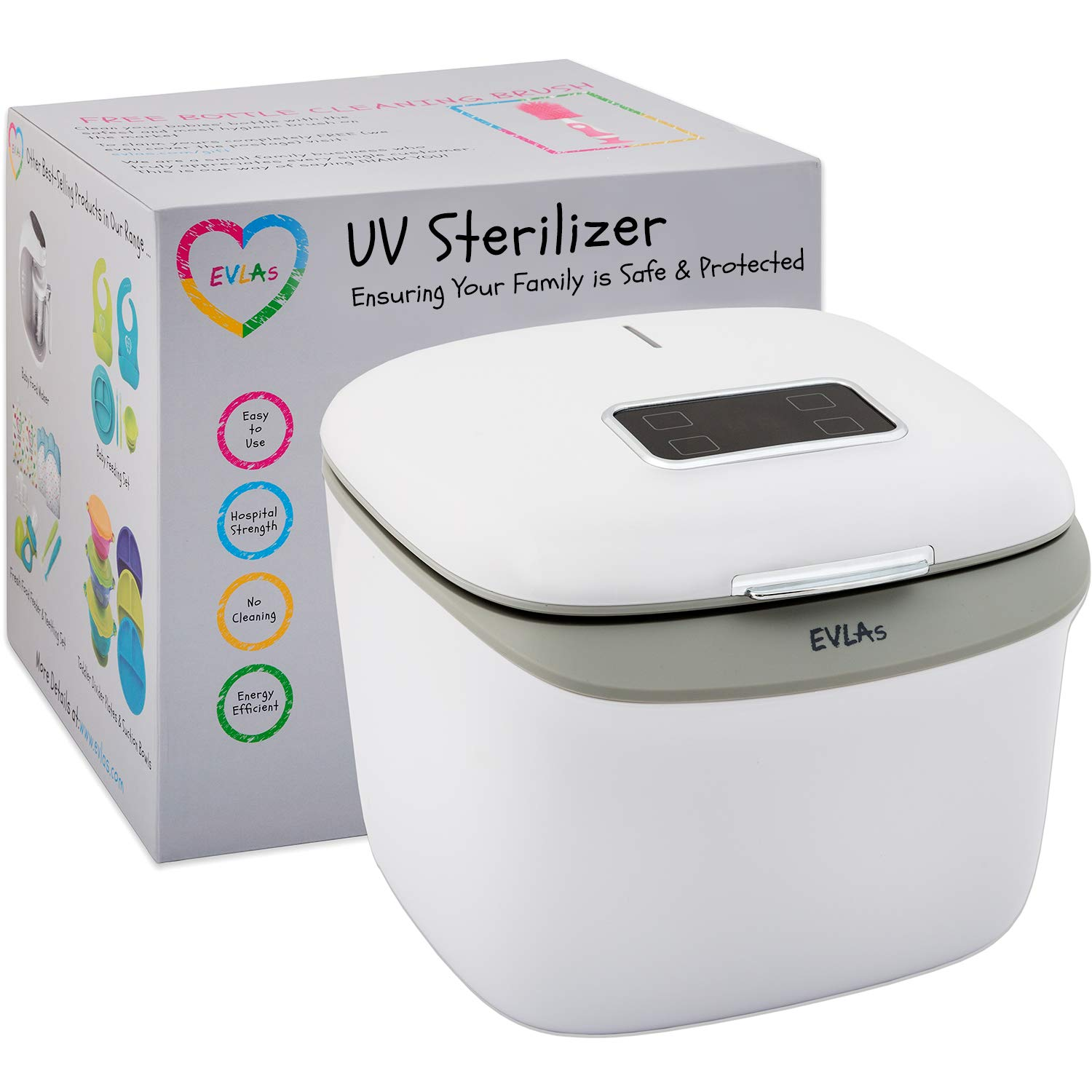 UV Sanitizer | UV Sterilizer Box | Sterilizes in Minutes with No Cleaning Required | Touch Screen Control | FCC Approved