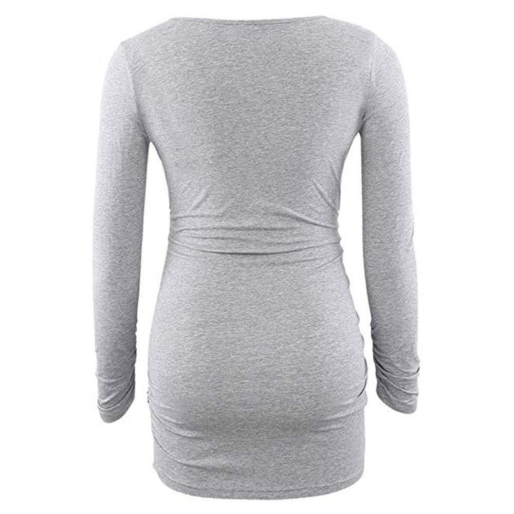 ZEZKT-Mode Weihnachten Motiv Umstandsshirt Damen Pullover Sweatshirt Tunika f/ür Schwanger Langarm Umstandsshirt Stillshirt Pflege Kleidung Oberteile