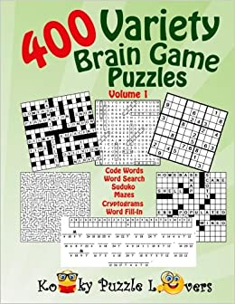Book Variety Puzzle Book, 400 Puzzles, Volume 1
