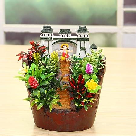 SADDPA Macetas, [jardín del Cielo] potas Creativas De Resina, Decoración De Escritorio, Decoración del Hogar - 3 Estilos: Amazon.es: Hogar