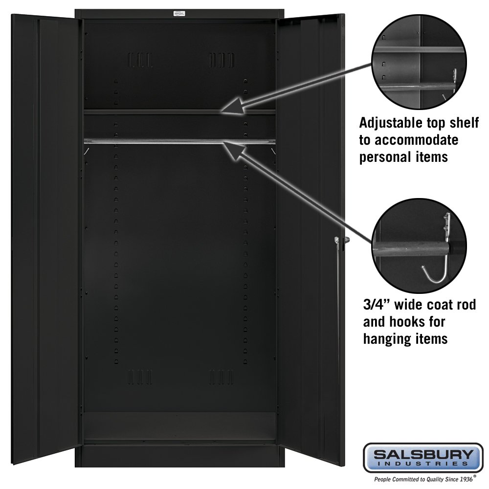 Salsbury Industries Wardrobe Storage Cabinet, 78-Inch by 24-Inch, Black by Salsbury Industries (Image #3)