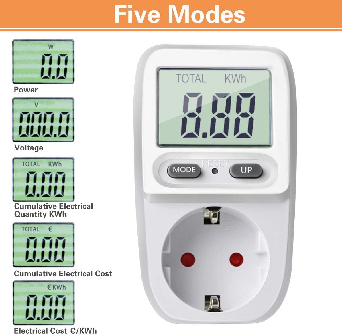 TOOGOO Hp-9800 Handmessger?t Power Analyzer Led Messbuchse Messbarer Strom Spannungs Leistungsfaktor Eu Stecker