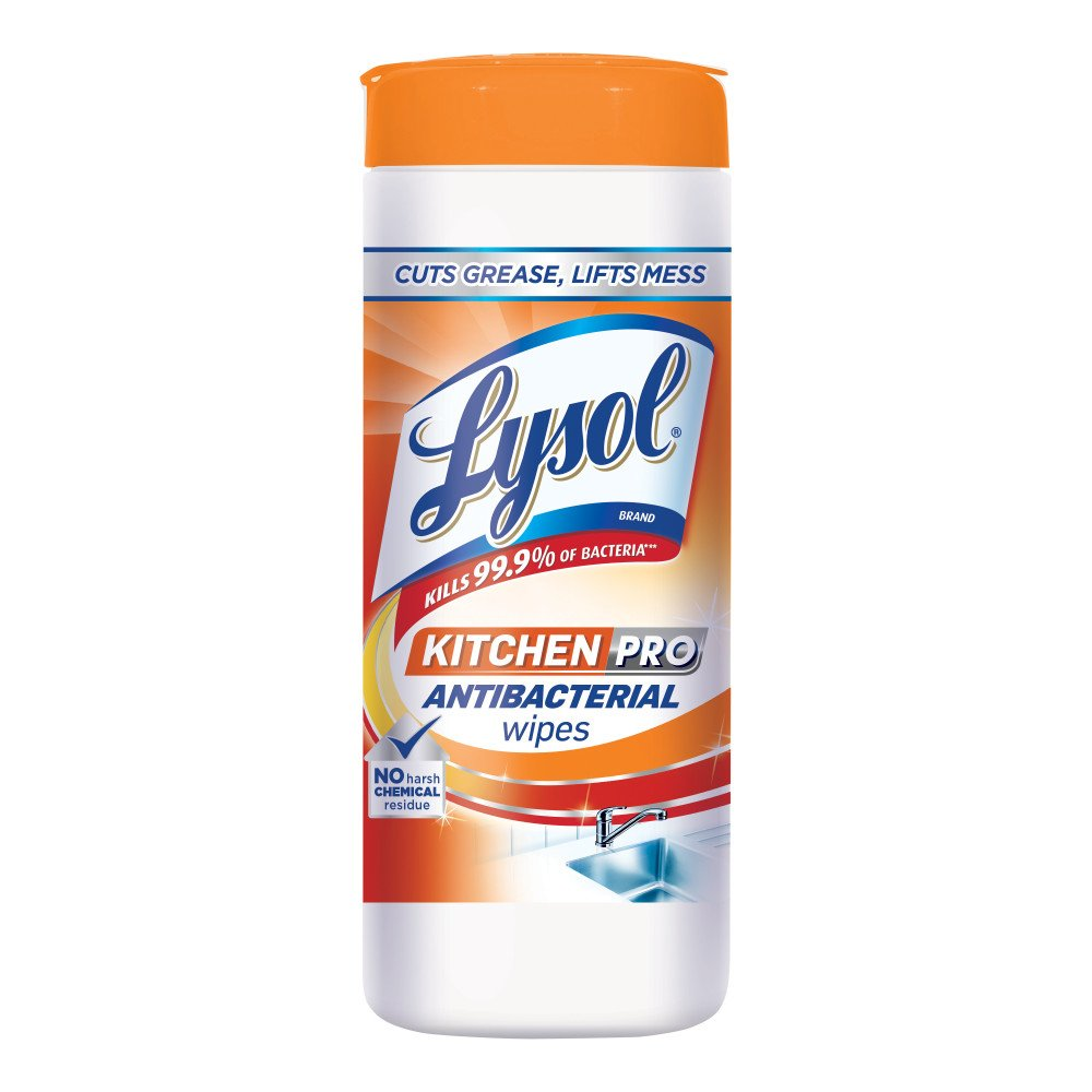 Amazon.com: Lysol Kitchen Pro Antibacterial Disinfecting Wipes, 30ct ...