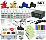 DGT Complete Tattoo Kit 4 Rotary Machines Power Supply 40 colors ink set