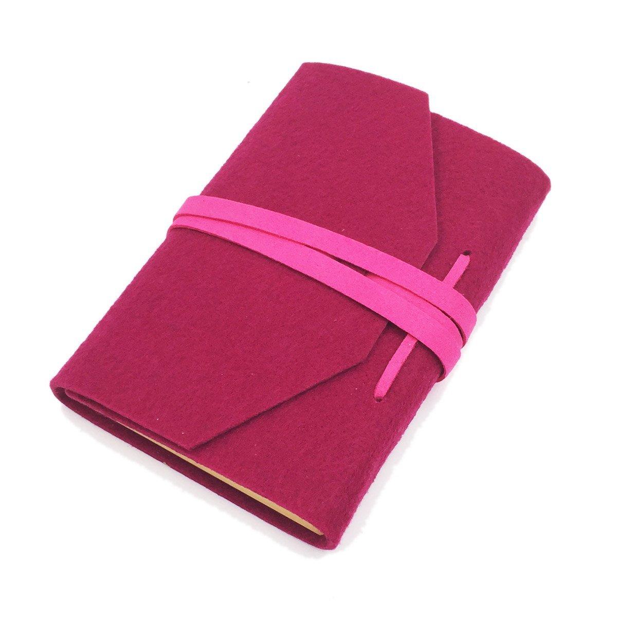 Sayeec, quaderno A4 con copertina rigida in feltro, stile vintage, per disegno, diario di viaggio e scrittura 7.2*5inch Black Saye E-commerce