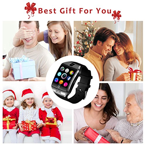 Bluetooth Smart Watch for Andriod phones, iphone Smartwatch with Camera,Waterpfoof Smart watches,Watch Phone Touchscreen for Android Samsung IOS Iphone X 8 7 6 5 Plus Men Women Youth (black-02) by Newatch (Image #1)