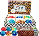 Bath Bombs for Kids -100% All Natural w/Organic Shea Butter & Sea Salt Dry Skin Moisturizer. Made in USA Large Vegan Bubble Bath Fizzers with Lush fragrance–Birthday Gift for Boy, Girl, Memorial Day