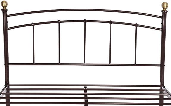 Giantex - Somier de láminas de Metal de 30,48 cm con cabecero y piecero para el hogar, Dormitorio, Muebles, Base de colchón con 9 Patas