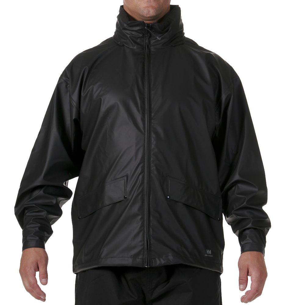 Helly Hansen Men's Voss Windproof Waterproof Rain Jacket, 990 Black, Medium