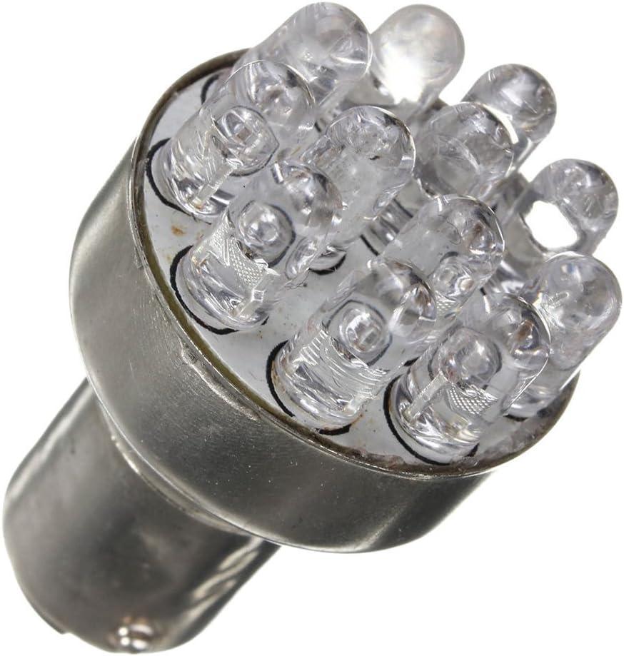 2x T25 1157 BAY15D 380 RED 12 LED SMD Car Stop Brake Tail Light lamp Bulb 12VDC TOOGOO R