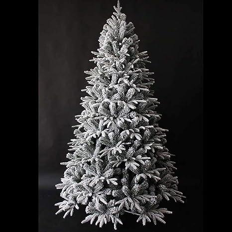 Albero Di Natale H 240.Mazzeo Giocattoli Albero Di Natale 240 Cm Carpino Bianco Innevato