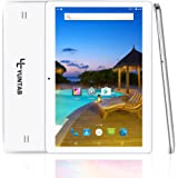 Yuntab K107 Tablette 10.1 pouces Android 5.1 MT6580 Quad core1,3GHz 3G Tablette IPS 1280*800 ( 16 Go Flash 1Go Ram, GPS, WiFi, youtube, double SIM Cartes pour Internet et Appel ) 5000mAh Batterie (Blanche)