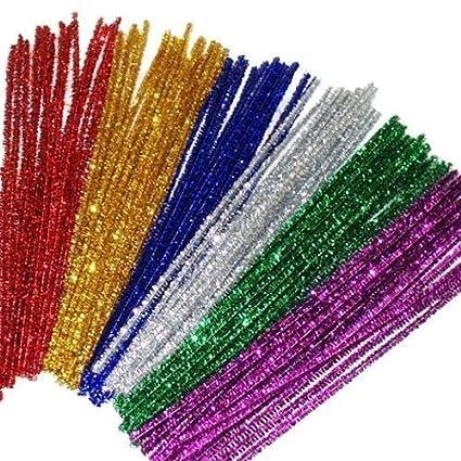 amazon com jijacraft 240 pcs glitter pipe cleaners 12 colors