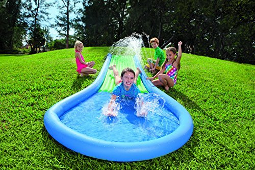 106eae8a720645 Amazon.com  HearthSong® Inflatable Water Slide for Kids  Toys   Games