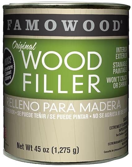 Amazon Com Famowood Original Wood Filler Oak Teak Quart