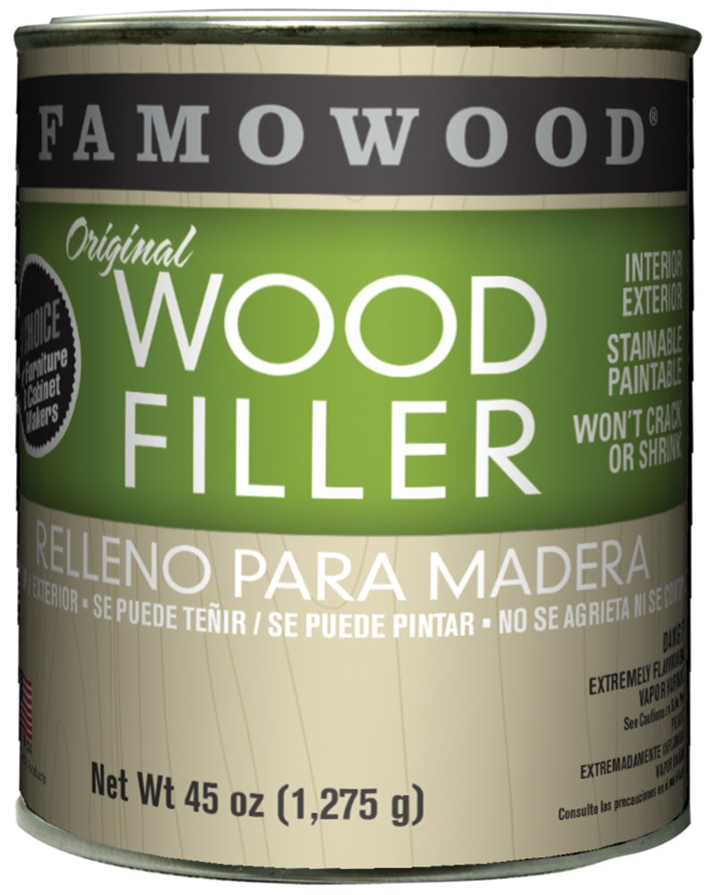 FAMOWOOD Original Wood Filler -Natural/Tupelo - Quart Net Wt 45oz(1,275g)