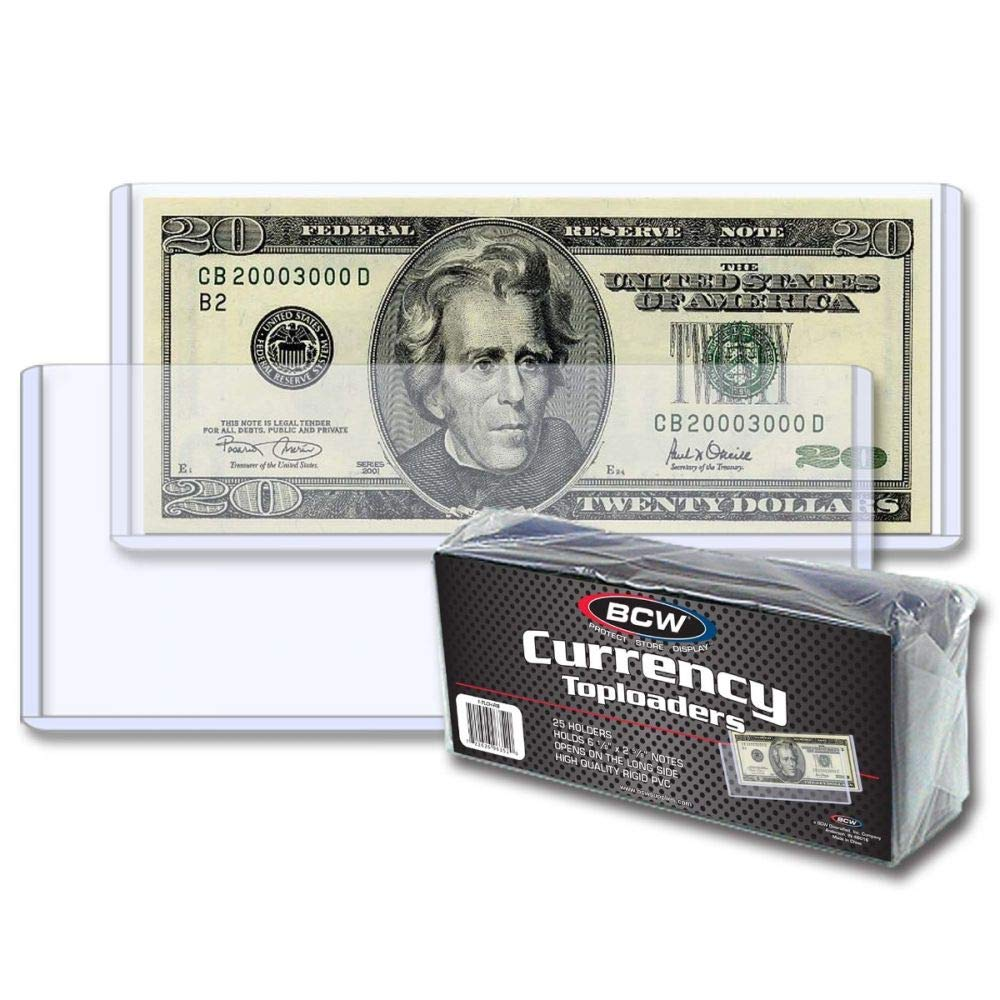 BCW Currency Topload Holder | Regular Bill | 50-Count by BCW