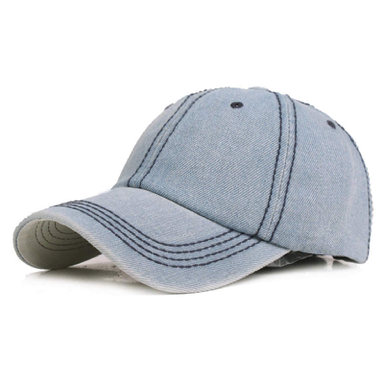 Rzxkad 2019 Fashion Denim Cotton Summer Autumn Baseball Cap Women Casual hat for Men Homme Cowboy Gorras