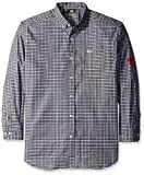 Caterpillar Big and Tall Flame Resistant Plaid Shirt, Floyd Plaid, Tall/Large