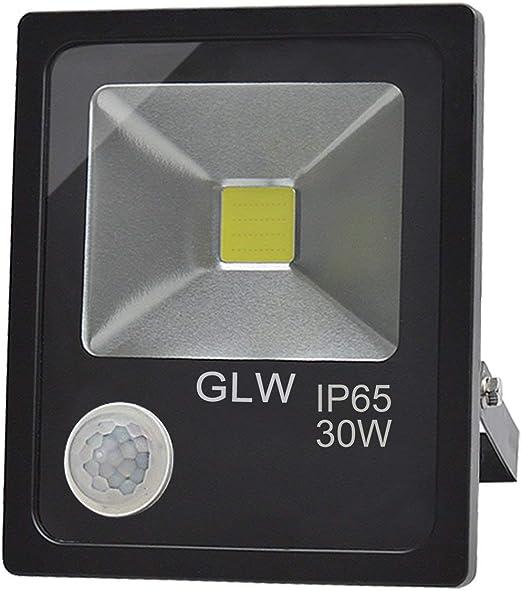 GLW LED 30W Sensor Movimiento Luz de Inundación Proyector de ...