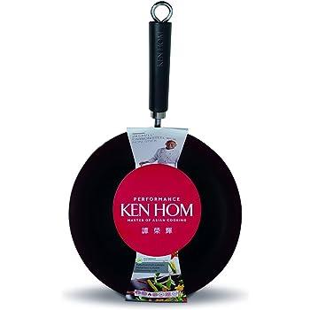Amazon Com Ken Hom Nonstick Carbon Steel Wok Flat