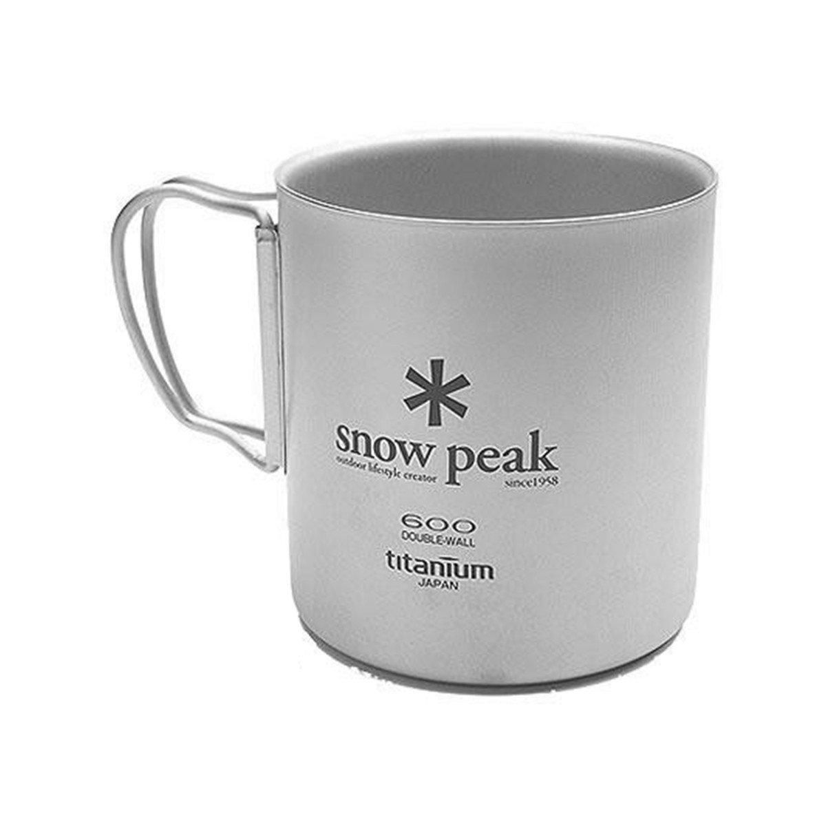 Snow Peakチタン二重壁カップ B002ACKJPM _.6L|Brushed Titanium Brushed Titanium _.6L