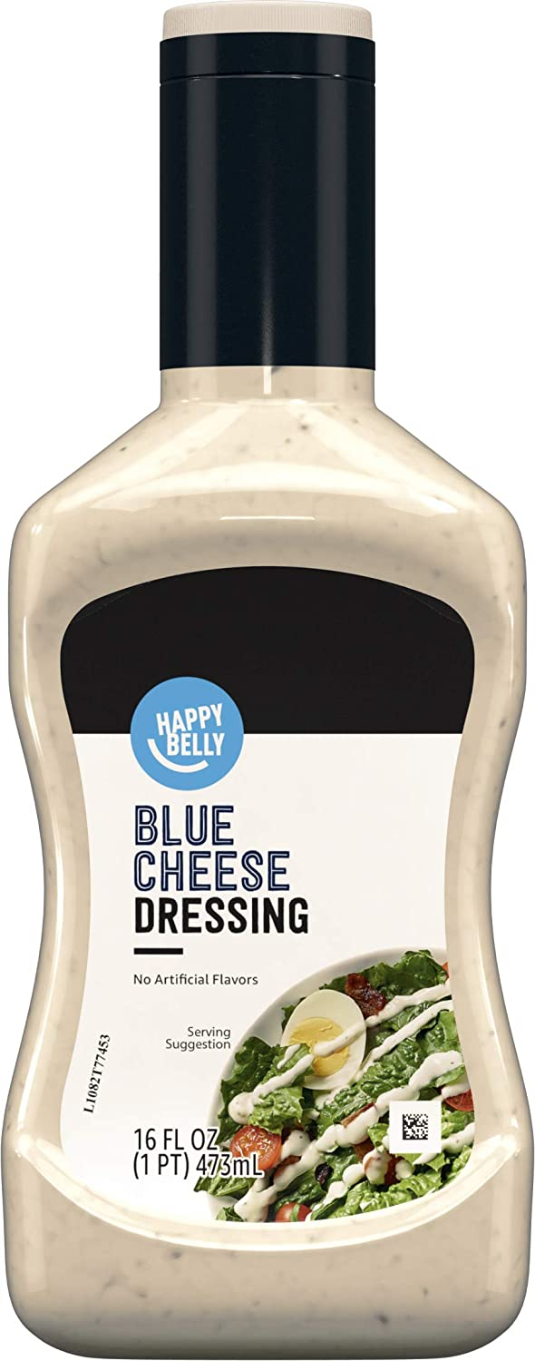 Amazon Brand - Happy Belly Blue Cheese Dressing, 16 Fl Oz
