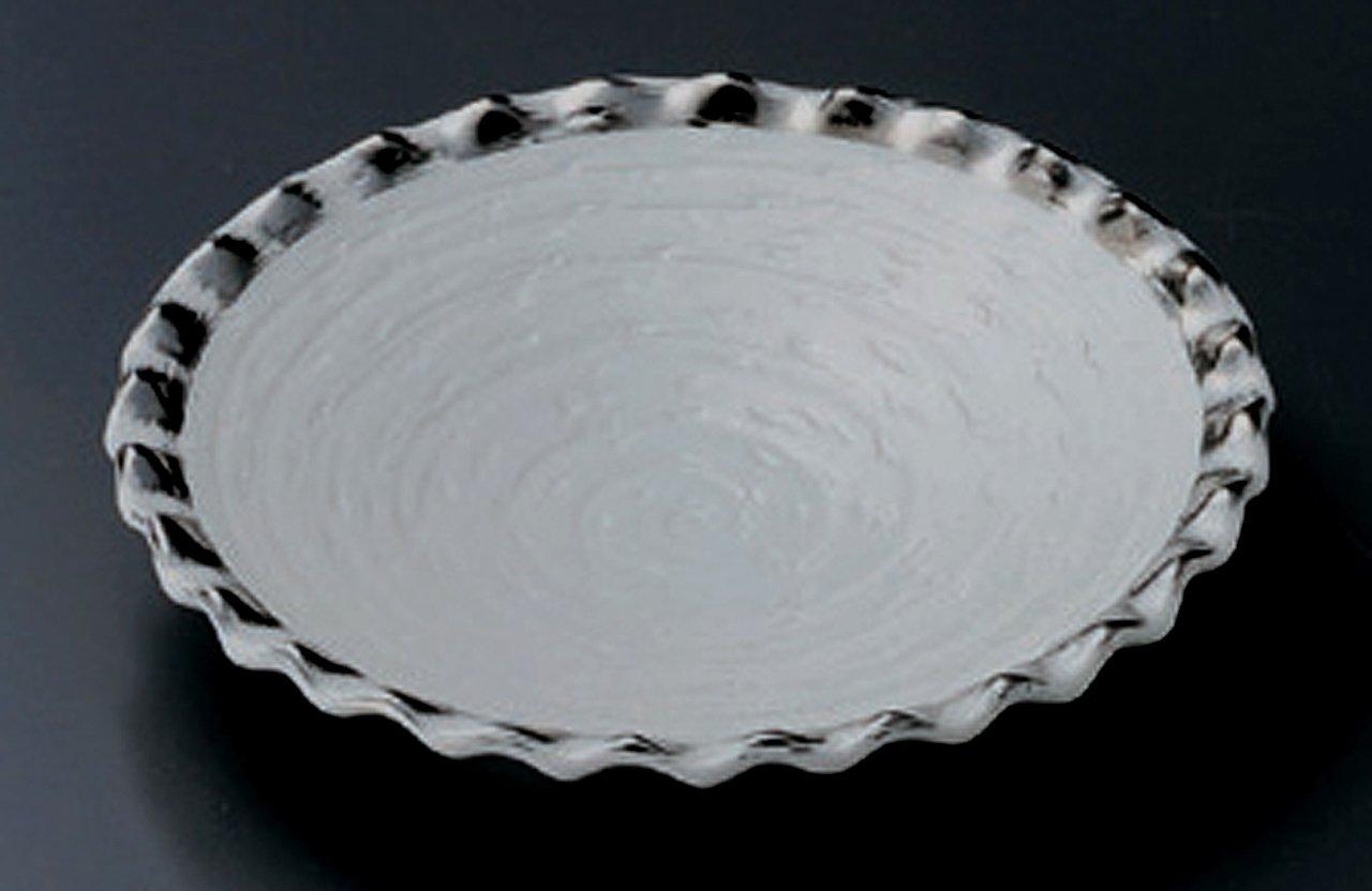 WHITE-CRYSTAL 16.7cm Satz von 5 Mittlerer Teller Jiki Japanisch traditionell