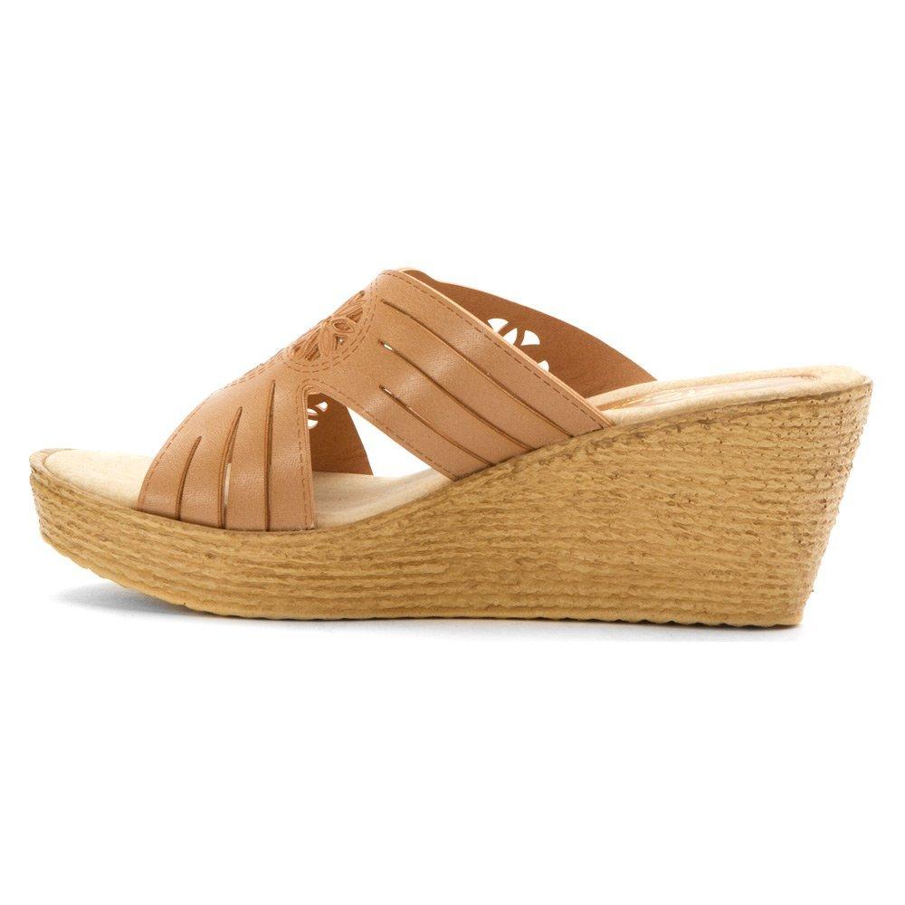 Sbicca Women's Indira Wedge Sandal B01AWAWLQS 7 B(M) US|Tan