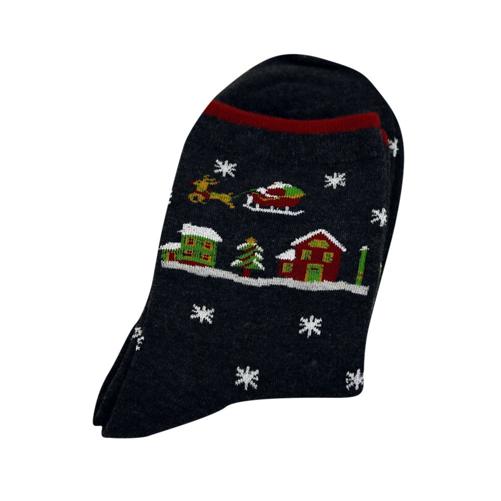 Christmas Socks,Kehen Colorful Patterned Cotton Socks For Women Casual Crew Socks Black