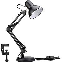 LE Lámpara de Escritorio LED, Casquillo E27, Bombilla Sustituible no Incluida, Luz Mesa de Noche, para Estanterias…
