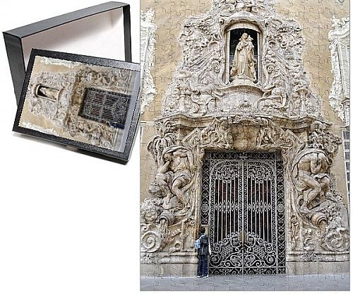 Photo Jigsaw Puzzle of Baroque exterior, The National Ceramics Museum, Valencia, Spain, Europe
