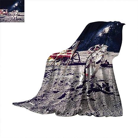 Amazon.com: Galaxy Throw Blanket American Cosmonaut with USA ...