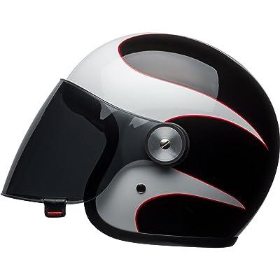 Bell Boost Adult Riot Cruiser Helmet (White/Black/Red, Medium)