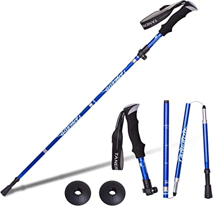 Details about  /New Outdoor Fold Trekking Poles Walking Stick Nordic Walking Hiking Stick