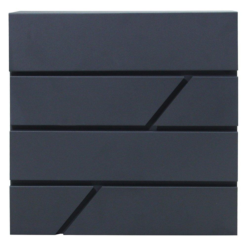 Hartleys Nero E Argento bloccaggio Lettera Scatola montaggio a parete per esterni cassetta postale posta CASA