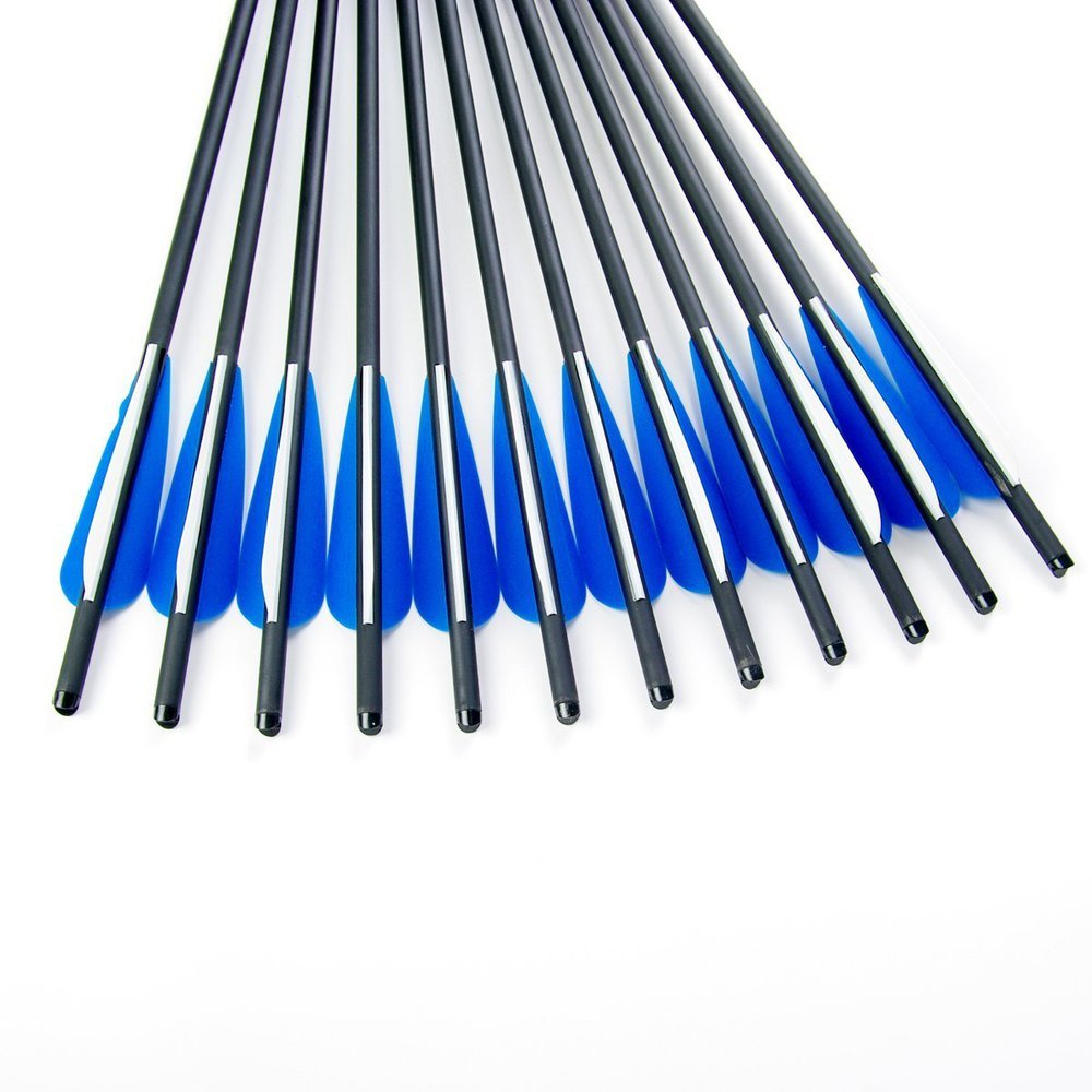 GPP Hunting Archery Carbon Arrow 17'' Crossbow Bolts Arrow With 4'' vanes Feather and Replaced Arrowhead/Tip 6PC by GPP (Image #6)