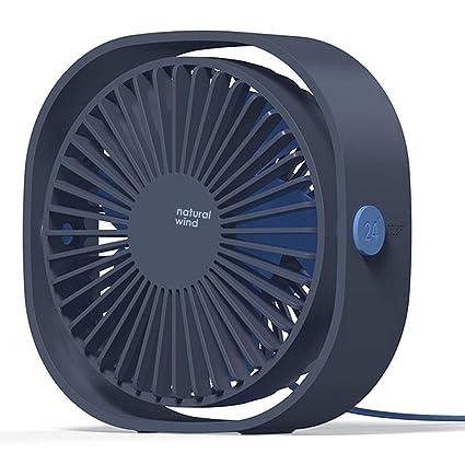 COMLIFE Ventilador USB de Escritorio Potente y Silencioso Mini Fan de Mesa Personal 3 Velocidades Rotación de 360 Grados para Oficina, Hogar, Viaje y otros