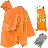 MGTRAIL軽量ポンチョ登山リュックに着用可フェス防災携帯雨具にもツェルトビバーク装備防寒シート付