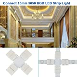 Zitrades LED Strip Connector 4 Pin, Compatible with