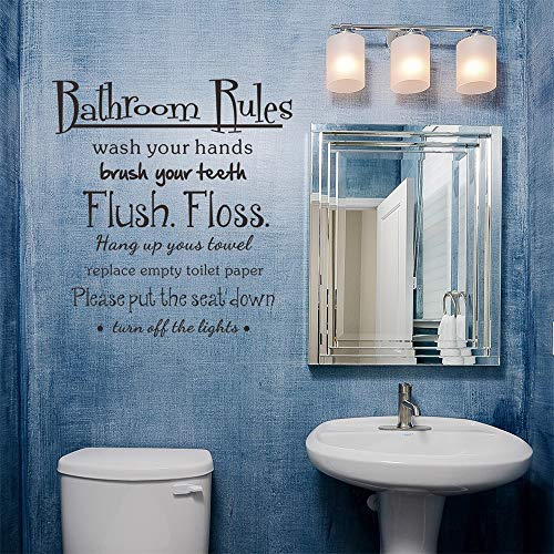 Iusun Wall Sticker Bathroom Rules Wash Vinyl Wallpaper Removable DIY Mural Paper - Decorate To Bathroom Mirrors A Using
