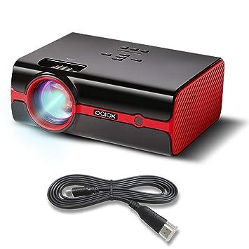 Videoproyector paick vídeo proyector 2500 Lúmenes HD 1080p LED Proyector 180 Pantalla Multimedia Compatible con