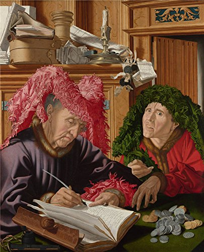 Oil Painting 'Marinus Van Reymerswaele Two Tax Gatherers ' Printing On Perfect Effect Canvas